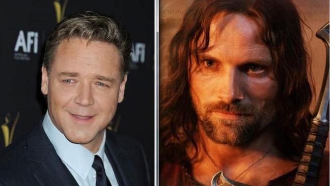 Russell Crowe estuvo a punto de interpretar a Aragorn.