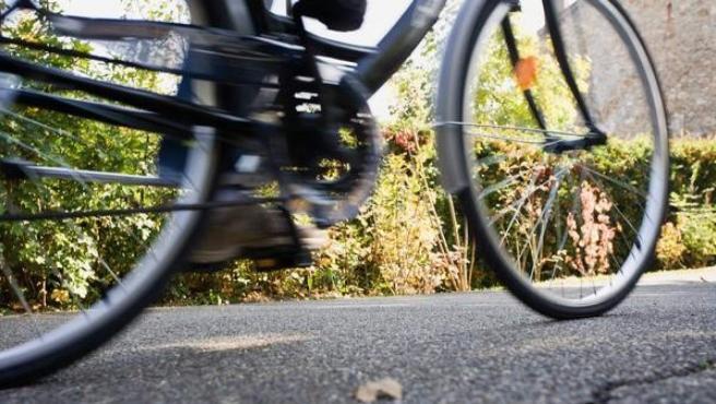 Imagen de archivo de un ciclista.