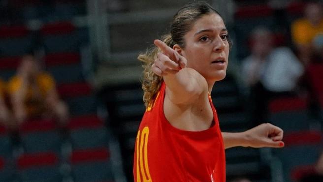 <p>Marta Xargay, en un partido con España en el Eurobasket femenino. </p>