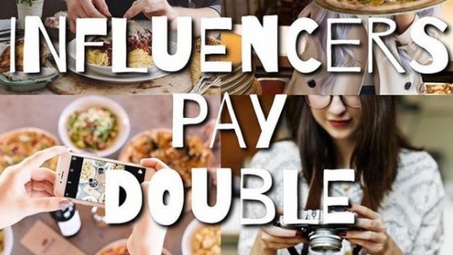 """La campaña de esta empresa heladera """"Influencers pay double""""."""