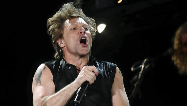 Jon Bon Jovi, líder de Bon Jovi, en un concierto en Atenas en 2011.