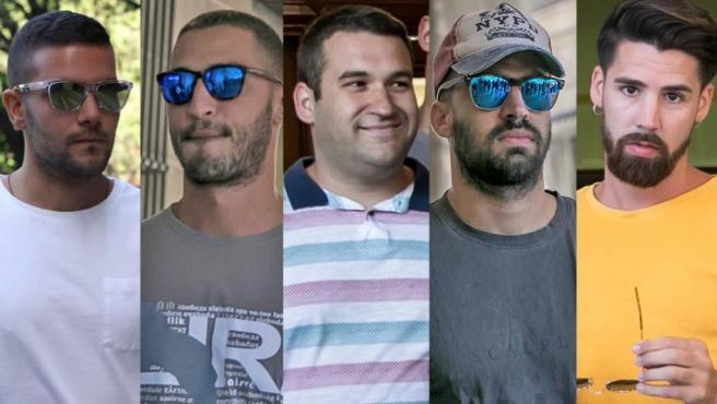 Los cinco miembros de 'La Manada'.