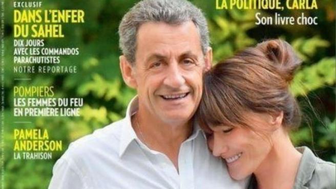 Portada de la revista francesa 'Paris Match' con Nicolas Sarkozy y Carla Bruni.