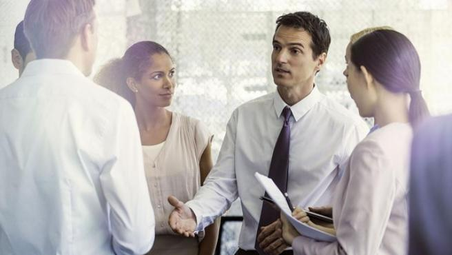 Imagen de archivo de una reunión de trabajo.