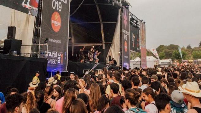 Imagen de un concierto del festival Canet Rock 19.