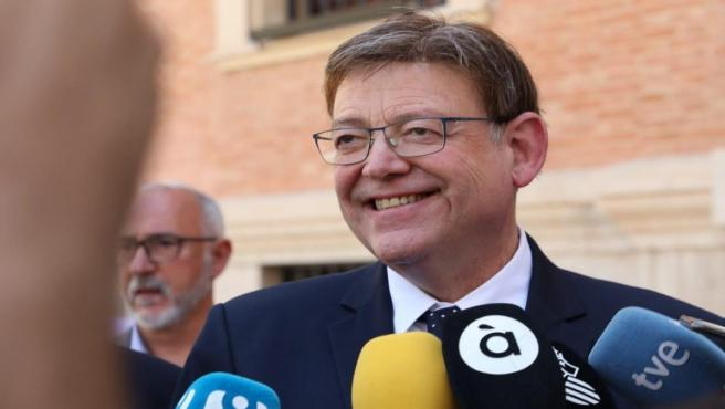Puig atiende a los medios en Castelló