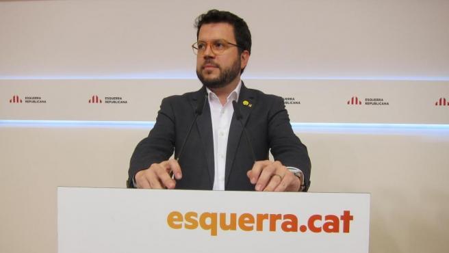 El vicepresidente del Govern y número tres de ERC Pere Aragonès.
