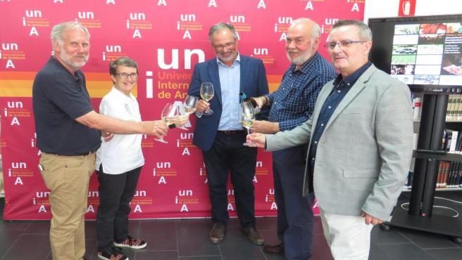 Participantes en el curso 'Vinos y otras viandas: productos agroalimentarios de calidad' de la Universidad Internacional de Andalucía (UNIA)