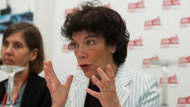 La ministra portavoz, Isabel Celaá.