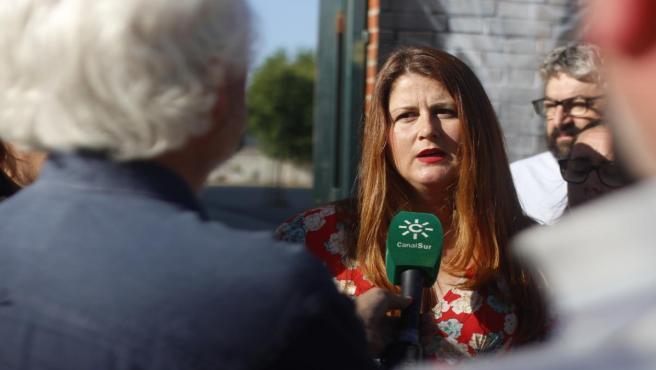Susana Serrano atiende a los medios (Foto de archivo).