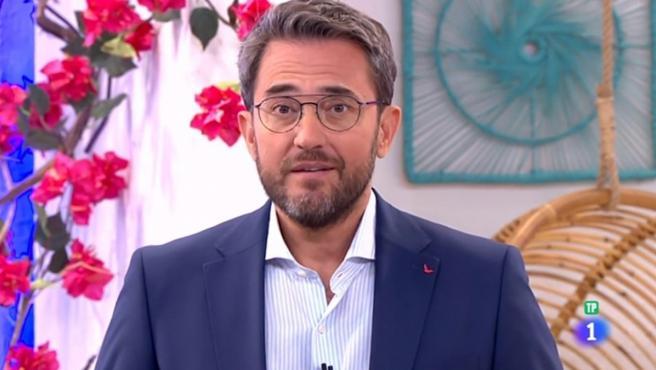 Màximo Huerta en su nuevo programa 'A partir de hoy' en La 1.