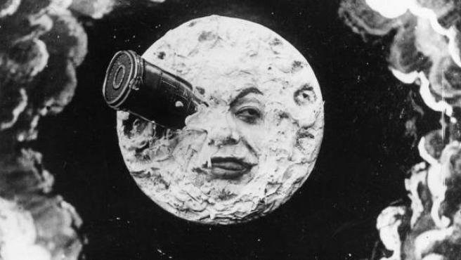 Famosa imagen de 'Viaje a la luna' de Georges Méliès.