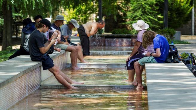 La primera ola de calor del verano dejó temperaturas por encima de los 40ºC.
