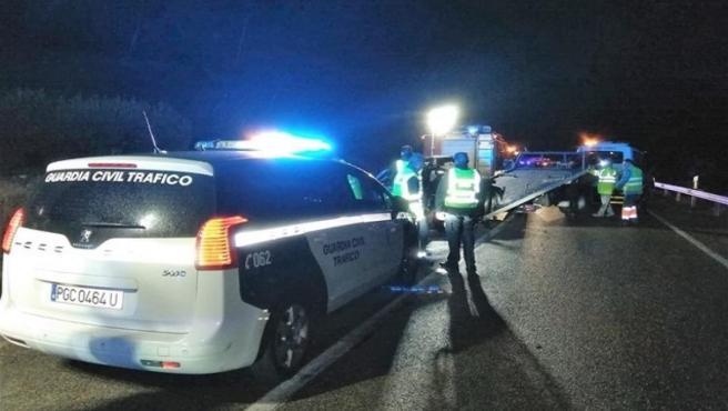Accidente en la A-401 que costó la vida a cuatro jóvenes de Jódar