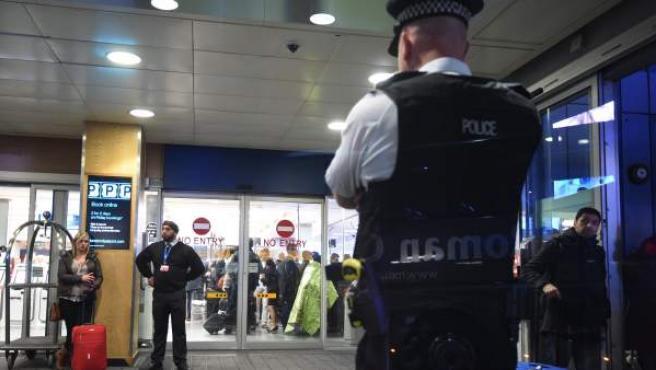 Un policía en Londres.