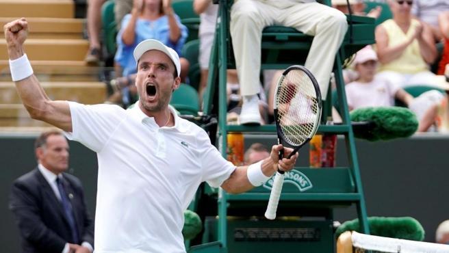 Roberto Bautista, en Wimbledon.