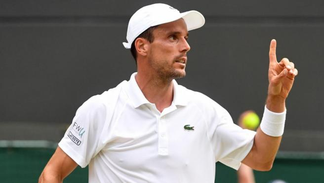Roberto Bautista, durante uno de sus partidos en Wimbledon.