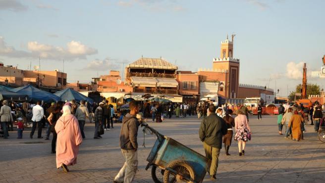 Imagen de archivo de un mercado en Marrakech, Marruecos.