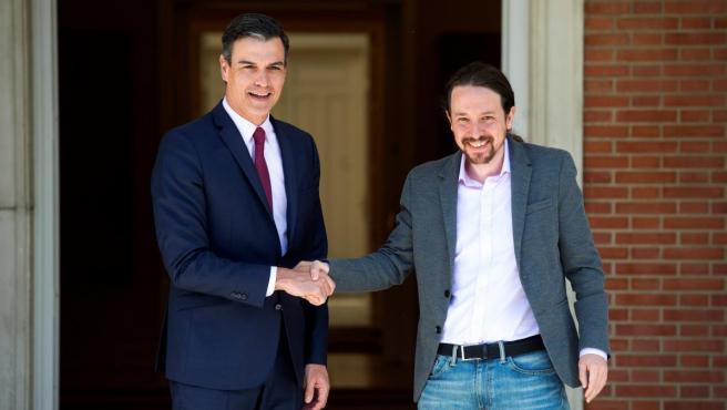 Pedro Sánchez y Pablo Iglesias, en Moncloa.
