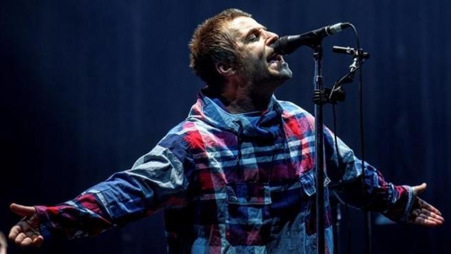 El excantante de Oasis Liam Gallagher, durante su actuación en el festival Bilbao BBK Live 2019.
