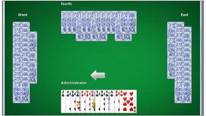 Internet Hearts, uno de los juegos online de Microsoft Internet Games.
