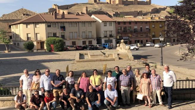 Participantes en la reunión de la Asamblea de la asociación Serranía Celtibérica, celebrada en Molina de Aragón, en Guadalajara.