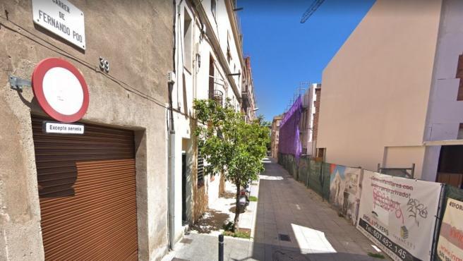 Imagen de archivo de la calle Fernando Poo, en Poblenou (Barcelona), donde se produjo el primer tiroteo.