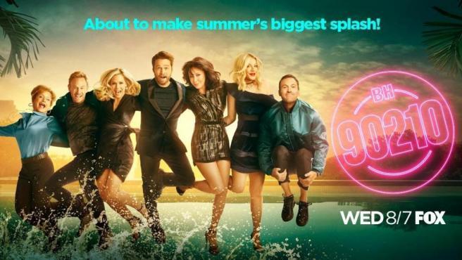 Cartel promocional del 'reboot' de la mítica serie 'Beverly Hills 90210', conocida en España como 'Sensación de vivir'.