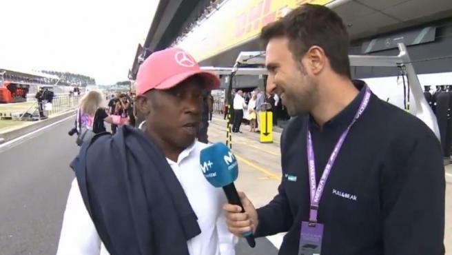 Anthony Hamilton, padre de Lewis, durante el GP de Gran Bretaña de Fórmula 1.