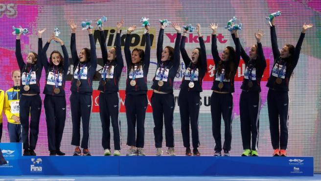 El equipo español de natación artística sube al podio mundial de la modalidad 'Highlight'.