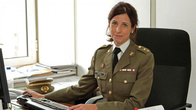 Fotografía de archivo de 2019, de Patricia Ortega, primera general del Ejército español (en la foto, todavía era coronel).