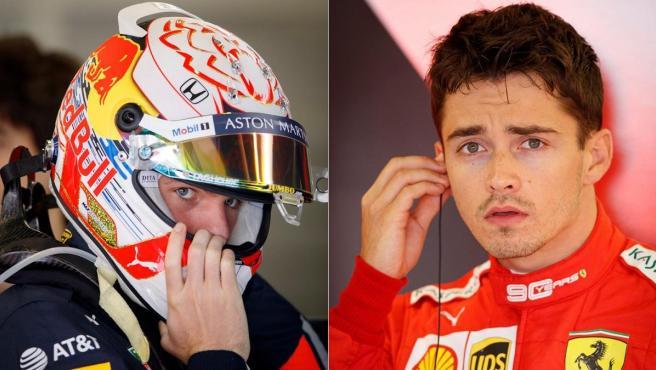 Max Verstappen y Charles Leclerc.