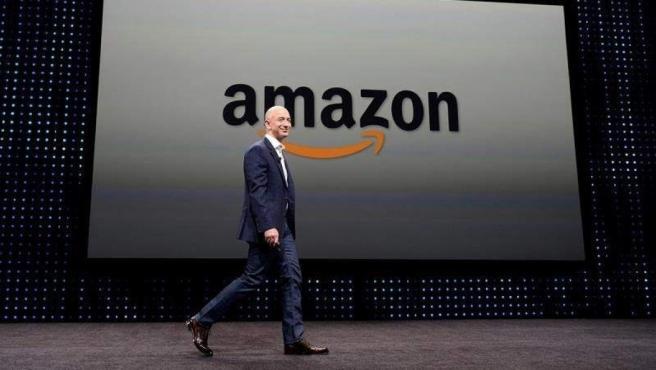 Jeff Bezos, propietario de Amazon, durante una presentación de la compañía.
