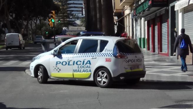 Imagen de un vehículo de la Policía Local de Málaga.