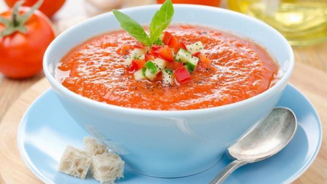 Un bol de gazpacho.