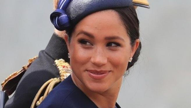 La duquesa de Sussex, Meghan Markle, durante el 'Trooping the colour'.