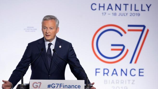 El ministro de Economía y Finanzas de Francia, Bruno Le Maire en la cumbre del G7.