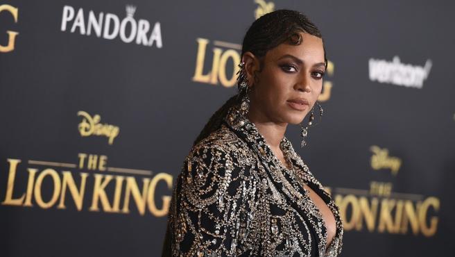 Beyoncé, durante el estreno de la película El Rey León.