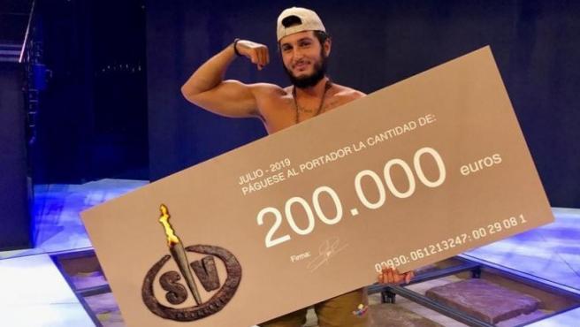 Omar Montes, tras ganar 'Supervivientes 2019'.