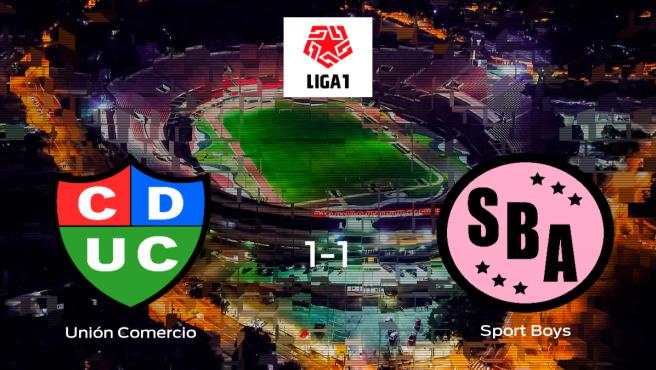 El Unión Comercio y el Sport Boys empatan a 1 en el Estadio Ipd de Nueva Cajamarca