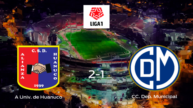Tres puntos para el equipo local: Alianza Universidad de Huanuco 2-1 CC Deportivo Municipal