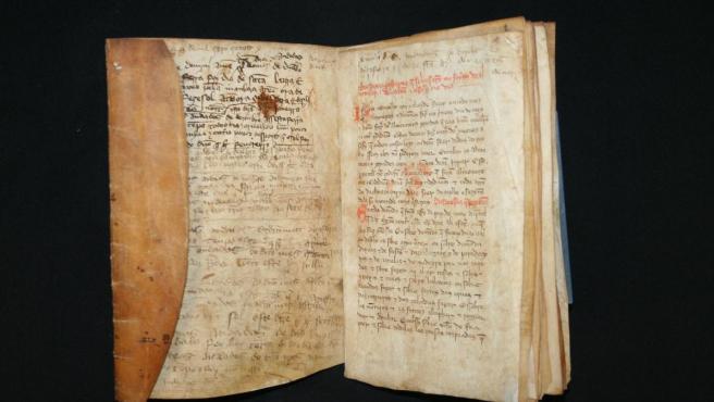 Documento expuesto en Lisboa, procedente del Archivo Real y General de Navarra