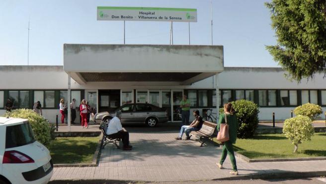 Vista de la fachada del Hospital Don Benito-Villanueva de la Sererna