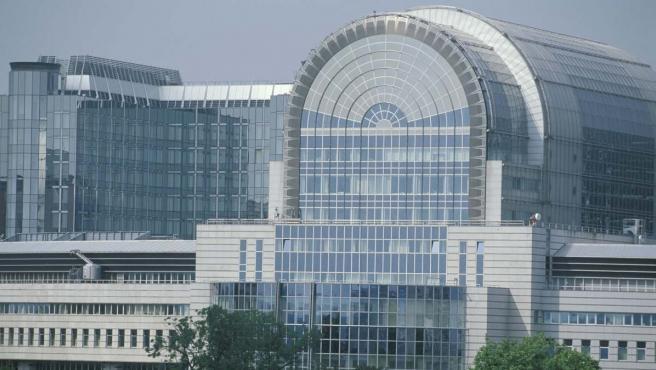 Exterior del edificio principal del Parlamento Europeo en Bruselas.