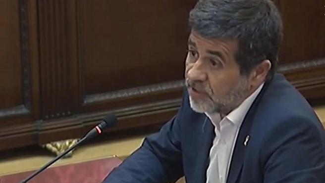 Jordi Sànchez en el juicio del 'procés'.