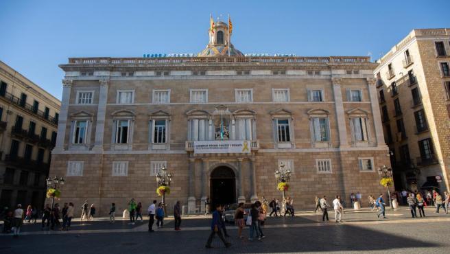 Fachada del Palau de la Generalitat de Catalunya.