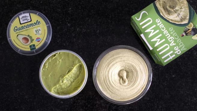 Hummus y guacamole Hacendado