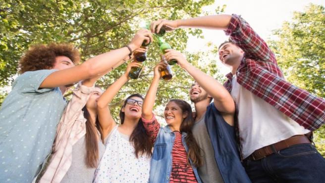 El botellón entre adolescentes