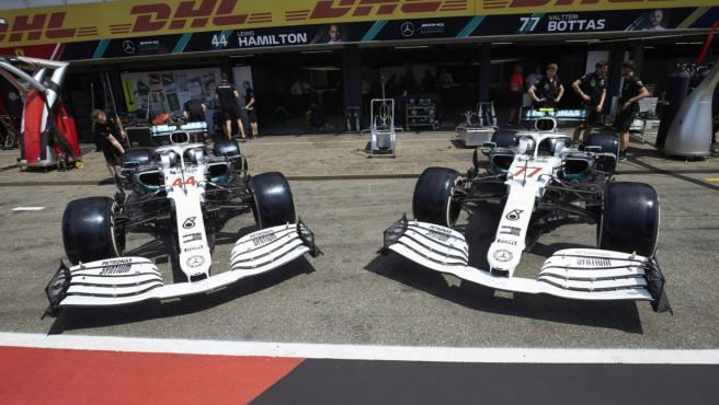 Decoración especial de Mercedes para el GP de Alemania de Fórmula 1.