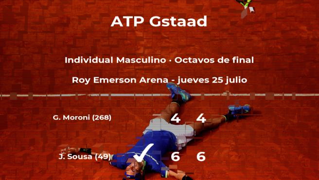 El tenista Joao (Por) Sousa pasa a la próxima fase del torneo ATP 250 de Gstaad tras vencer en los octavos de final